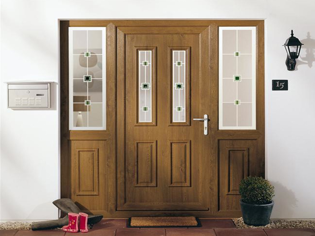 Upvc doors enniskillen fermanagh ireland for Brown upvc door